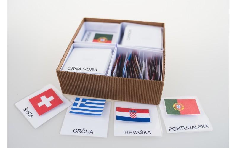 Tridelne kartice zastav Evrope